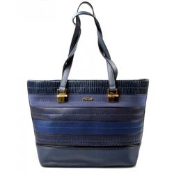 Elegantní sytě modrá kabelka na rameno Linda
