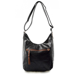 Elegantní černá menší volnočasová kabelka Fit