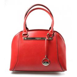 Elegantní kufříková červená bordó kabelka do ruky Oleni