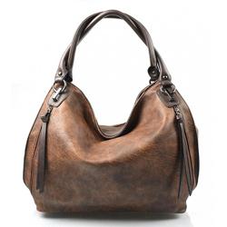 Hnědá designová kabelka Different