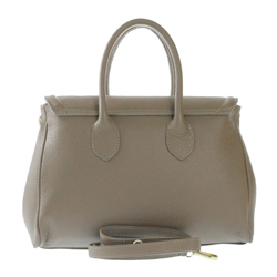 Kožená luxusní hnědá taupe kabelka do ruky Aliste