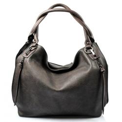Tmavě hnědá designová kabelka Different