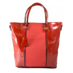 Červená lakovaná kabelka do ruky Luxury