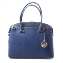 Elegantní kufříková modrá kabelka do ruky Anesi