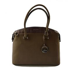 Elegantní kufříková tmavě hnědá kabelka do ruky Anesi