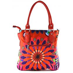 Červená barevná kabelka do ruky Snicky