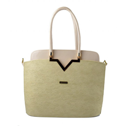 Světle béžová luxusní kabelka Mathia
