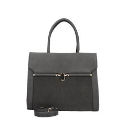 Šedá luxusní kabelka Ambi