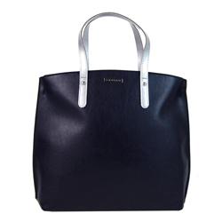Modro stříbrná matná kabelka v anglickém stylu Ksora
