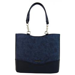 Tmavě modrá vysoká elegantní kabelka Zien