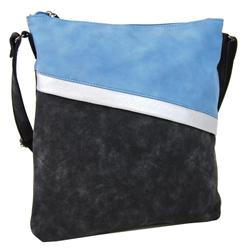 Černo modrá nevšední crossbody kabelka Moltien