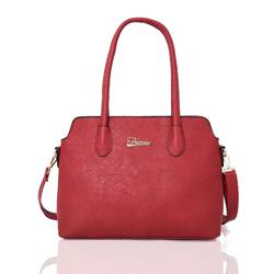 Červená elegantní dámská kabelka Houhen
