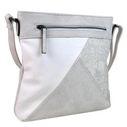 Bílá menší crossbody kabelka Poilen
