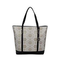 Černo-bílá dámská kabelka Axelle