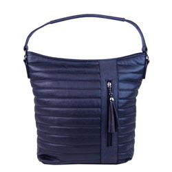 Modrá prošívaná crossbody kabelka Ameliene
