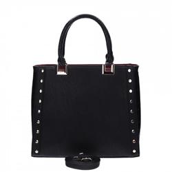 Černá elegantní dámská kabelka s cvočky Tinna