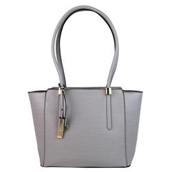 Šedá elegantní kabelka na rameno se zlatými doplňky Poilen