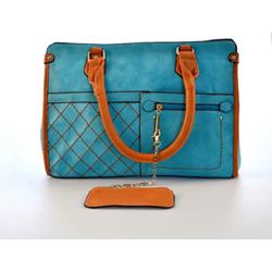 Tyrkysová elegantní dámská kabelka Volie