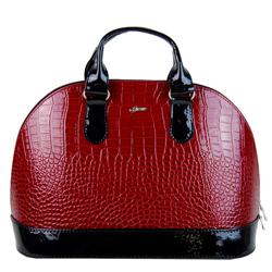 Karmínová kabelka v krokodýlím designu Siera