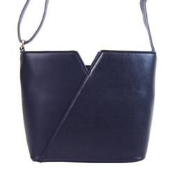 Modrá vystužená dámská crossbody kabelka Muriel