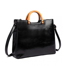 Černá dámská luxusní kabelka do ruky Robie