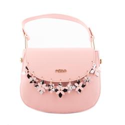 Růžová dámská moderní netradiční crossbody kabelka Anoriel