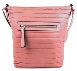 Růžová crossbody kabelka Pamela