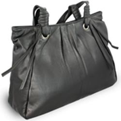 Černá dámská kožená kabelka Isabell