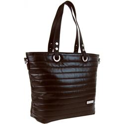 Tmavě hnědá prošívaná kabelka na rameno Jantie 740b73b50d7