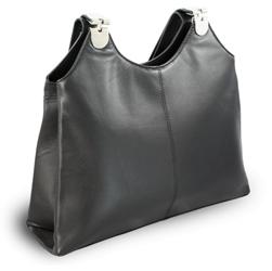 Černá dámská kožená kabelka Penelopie