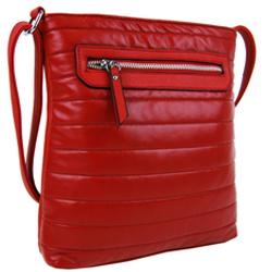 Červená elegantní moderní crossbody kabelka Miriel