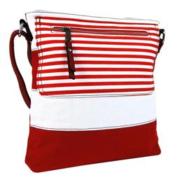 Červeno bílá moderní crossbody dámská kabelka Citiel