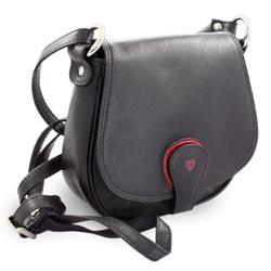 Černá kožená kabelka Amourie
