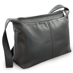 Černá dámská kožená kabelka Amilies