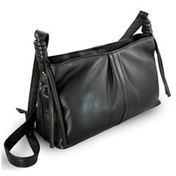 Černá dámská kožená kabelka Arian