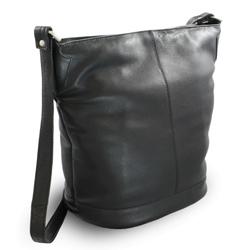 Černá dámská kožená kabelka Aurorien