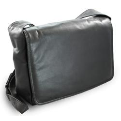 Černá dámská kožená klopnová kabelka Emalien