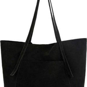 MANGO Nákupní taška 'G-Vega' černá