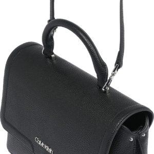 Calvin Klein Kabelka černá / stříbrně šedá