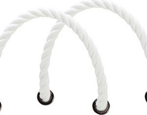 O bag bílá krátká provazová držadla