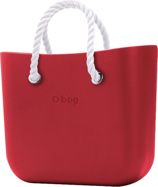 O bag kabelka MINI Rosso s bílými krátkými provazy