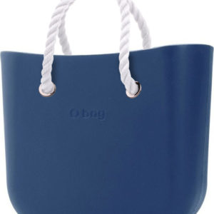O bag kabelka MINI Bluette s bílými krátkými provazy